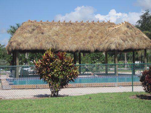 Boca Bend Marina Poolside tiki hut