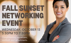 October 13 iClub Fall Sunset Networking Event